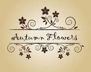 Autumn Flowers Kunsthandwerk für Mode & Accessoires